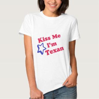 Kiss Me I'm Texan T Shirt