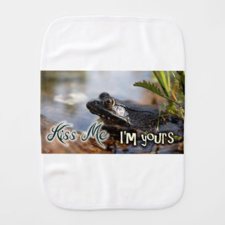 Kiss me I'm yours Burp Cloth