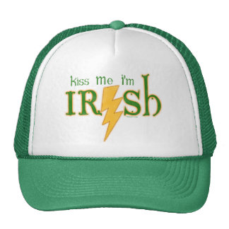 Kiss Me Irish Lightning Bolt Cap