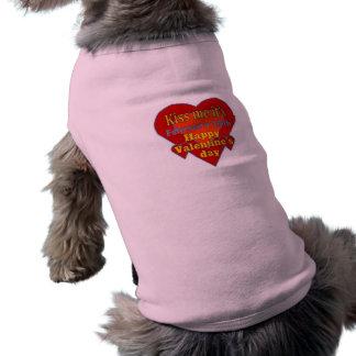 kiss me it s valentines day pet t-shirt