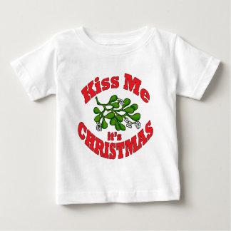 kiss me it's Christmas Baby T-Shirt