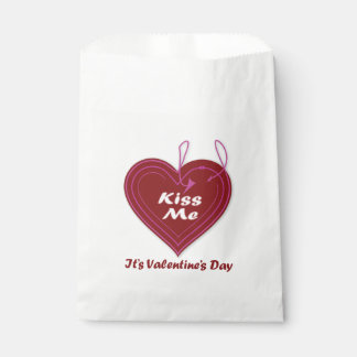 Kiss Me It's Valentine's Day Favor Bag