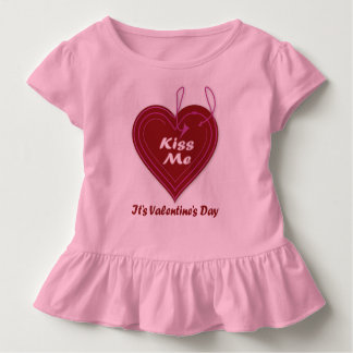 Kiss Me It's Valentine's Day Toddler T-Shirt