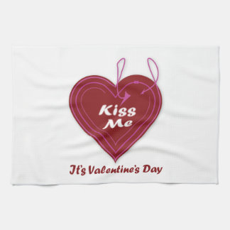 Kiss Me It's Valentine's Day Towel