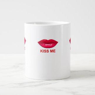 kiss me large coffee mug