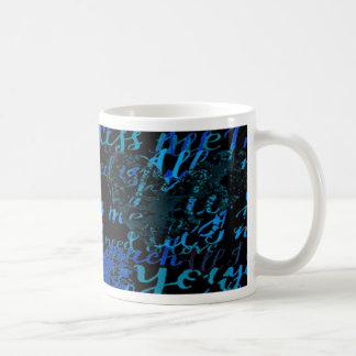 Kiss Me Miss Me Blue Coffee Mug