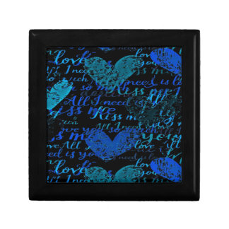Kiss Me Miss Me Blue Gift Box