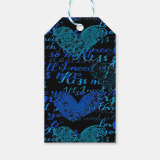 Kiss Me Miss Me Blue Gift Tags