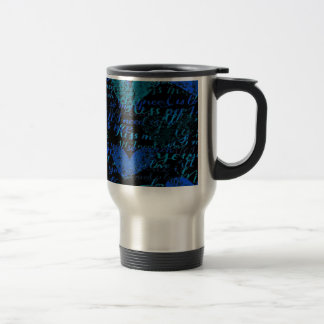 Kiss Me Miss Me Blue Travel Mug
