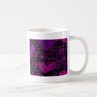 Kiss Me Miss Me Purple Coffee Mug