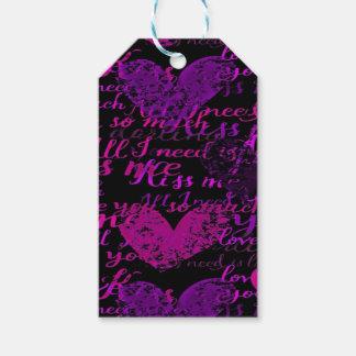 Kiss Me Miss Me Purple Gift Tags