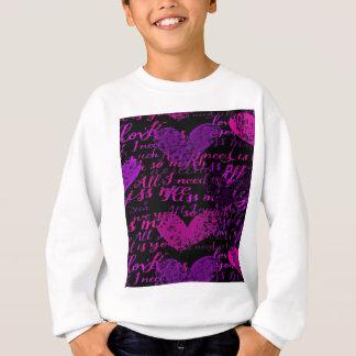 Kiss Me Miss Me Purple Sweatshirt