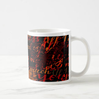 Kiss Me Miss Me Red Coffee Mug