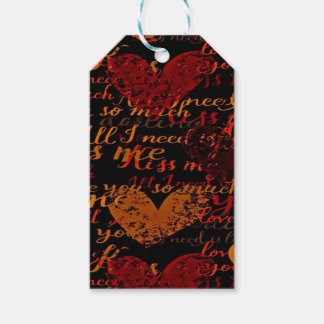 Kiss Me Miss Me Red Gift Tags
