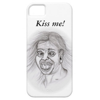 Kiss ME! - pencil drawing, black and Design white