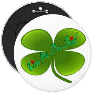 Kiss Me Pinback Button