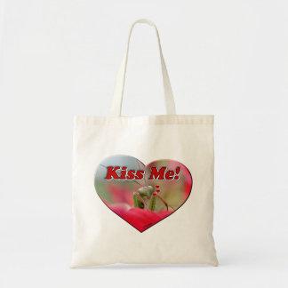Kiss Me Praying Mantis Tote Bag