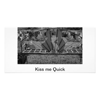 Kiss me Quick Custom Photo Card