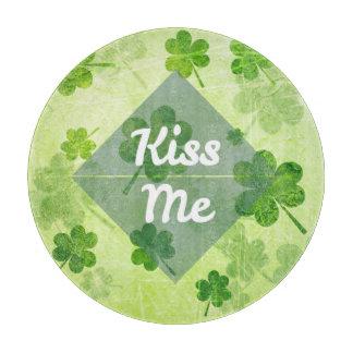 Kiss Me Shamrock Cutting Board