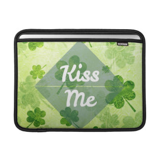 Kiss Me Shamrock MacBook Sleeve