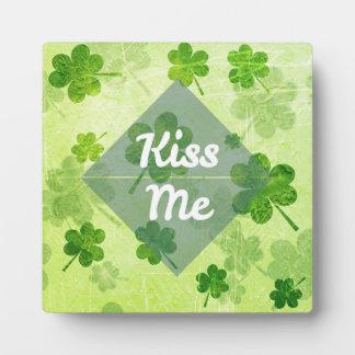 Kiss Me Shamrock Plaque