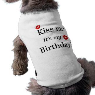 Kiss Me Tshirt Sleeveless Dog Shirt