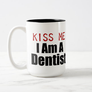 kiss Me Two-Tone Coffee Mug