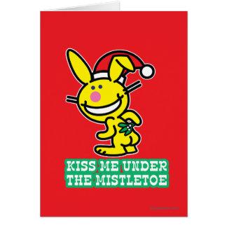 Kiss Me Under The Mistletoe Card