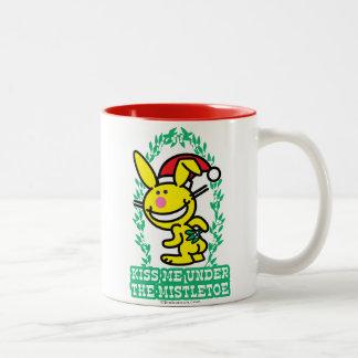 Kiss Me Under The Mistletoe Two-Tone Coffee Mug
