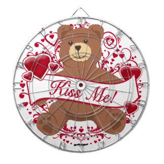 Kiss Me Valentine s Day Teddy Bear Dart Board