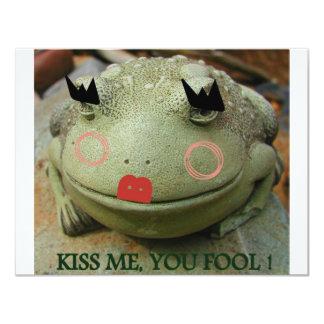 KISS ME YOU FOOL AGAIN 11 CM X 14 CM INVITATION CARD