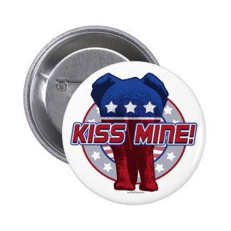 Kiss Mine Anti Liberal by Grand Old Party Gear Pin