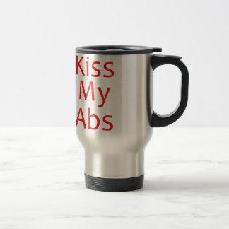 Kiss my Abs- Red Travel Mug