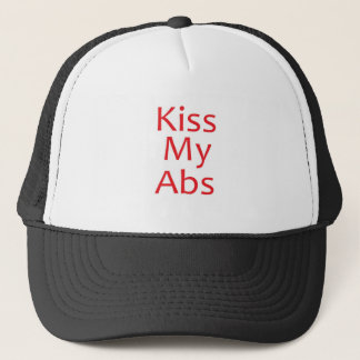Kiss my Abs- Red Trucker Hat