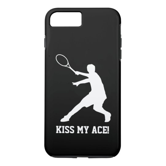 KISS MY ACE funny tennis player quote personalised iPhone 8 Plus/7 Plus Case