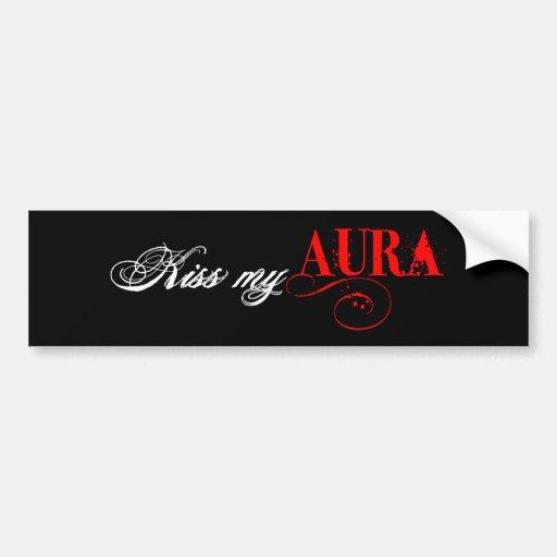 Kiss My Aura Bumper Sticker