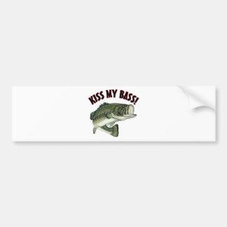 Kiss My Bass Bumper Stickers