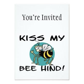 Kiss My Bee Hind 5x7 Paper Invitation Card