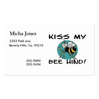 Kiss My Bee Hind Pack Of Standard Business Cards