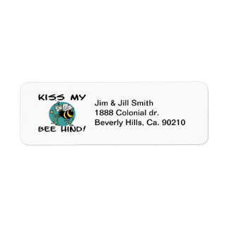 Kiss My Bee Hind Return Address Label