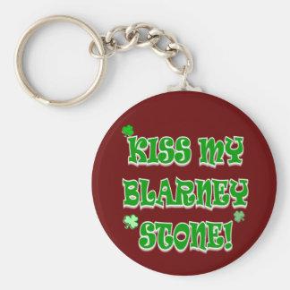Kiss My Blarney Stone Irish Apparel and Gifts Keychain