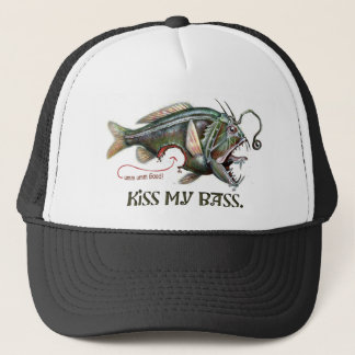 Kiss My Delicious Bass by Mudge Studios Trucker Hat