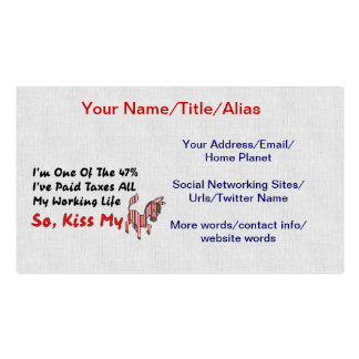 KISS MY DONKEY PACK OF STANDARD BUSINESS CARDS
