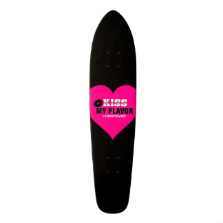 Kiss My Flavor Vape Pink Skateboards