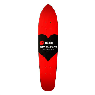 Kiss My Flavor Vape  Red Black Heart Custom Skate Board
