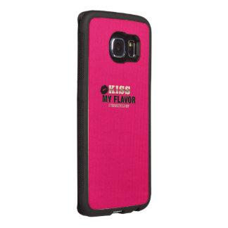 Kiss My Flavor Vape Wood Phone Case