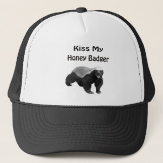 kiss My Honey Badger Trucker Hat