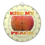 Kiss My Peach. Funny Dart Board