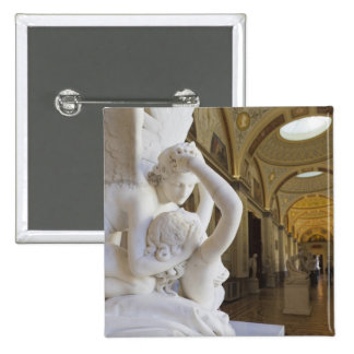 Kiss of Cupid and Psyche, by Antonio Canova 15 Cm Square Badge