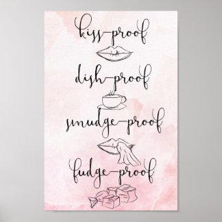 Kiss Proof Fudge Proof Poster